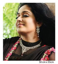 Indian Jewellery and Clothing: Malayalam actress Kavya Madhavan Presenting Stunning Jewellery from A. Geeri Pai Gold and Diamonds