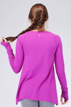 keep warm during math class or Savasana in this cozy sweat–wicking top. | Practice Ready LS Tee