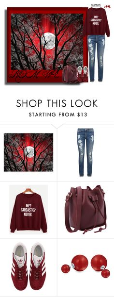 """Romwe 32"" by sarahguo ❤ liked on Polyvore featuring Tommy Hilfiger, adidas and Bling Jewelry"