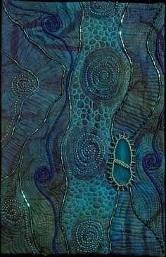 Toward a Dark Shore by Larkin Jean Van Horn. Love the spirals, colors.