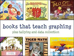 Illustrating a connection between handing data everyday activities can be introduced early through storytelling. There are so many children's books that deal with quantities, patterns processes that can be used to support activities focusing on data Math Classroom, Kindergarten Math, Teaching Math, Preschool, Math Literacy, Math Education, Future Classroom, Teaching Ideas, Math Literature