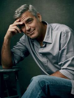 George Clooney - love the salt and pepper...