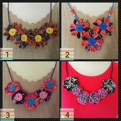 Kalung batik, batik, batik necklace, handmade
