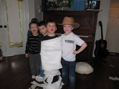 Mummy wrap game!  This blog gives a couple more ideas too.