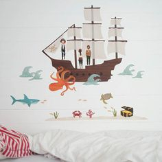 Walltattoo pirate ship | love mae