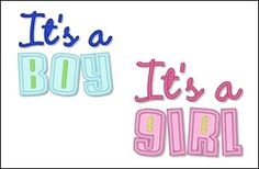 It's a Boy! It's a Girl! Set- FREE! | FREE | Machine Embroidery Designs | SWAKembroidery.com