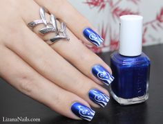 Nail Art - Aruba Blue