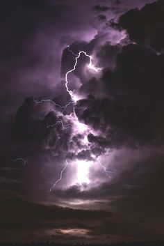 Image about sky in World by Mich ♡ on We Heart It #purple #tumblr #sky #storm #wallpaper #thunder #light #lightning #dark #clouds #outdoor #F4F #amazing