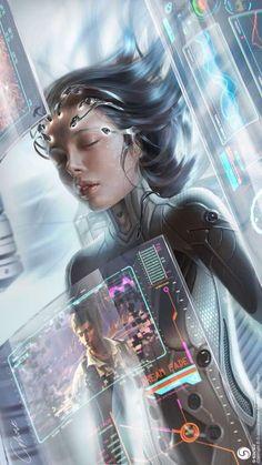 51 Best Ideas For Science Fiction Technology Cyberpunk Cyberpunk 2077, Cyberpunk Kunst, Cyberpunk Games, Fantasy Anime, Fantasy Kunst, Fantasy Art, Dark Fantasy, Fantasy Fiction, Arte Sci Fi