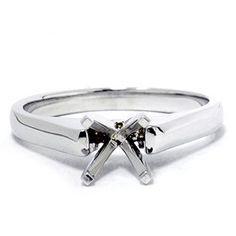 Solitaire Ring 14K White Gold Pompeii3 Inc.. $229.00