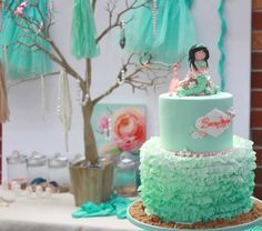 Girls With Pearls At Parties | Mermaid girl under the sea party via Kara's Party Ideas ...