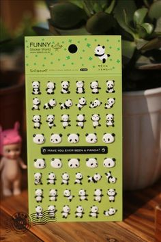 Aliexpress.com : Buy New 2 pcs/lot cute panda 3D bubble sticker decoration decal DIY diary album scrapbooking kawaii stationery post it from Reliable stationery label suppliers on Baby Toy's World  | Alibaba Group