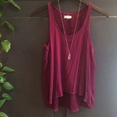silence + noise purple racerback top Top is flowy with cotton front and sheer racerback with keyhole cutout. Lightly worn, no trades please! Urban Outfitters Tops Tank Tops