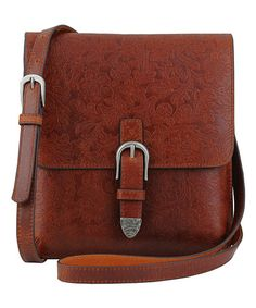 Another great find on #zulily! Tan Leather Sasha Crossbody Bag #zulilyfinds