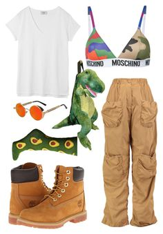 """""""Untitled #28"""" by larisa-petricala on Polyvore featuring beauty, Moschino, J.W. Anderson, Hush, Timberland and Socksmith"""
