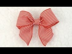 DIY crafts - How to Make Simple Easy Bow/ Ribbon Hair Bow Tutorial // DIY beauty and easy - YouTube