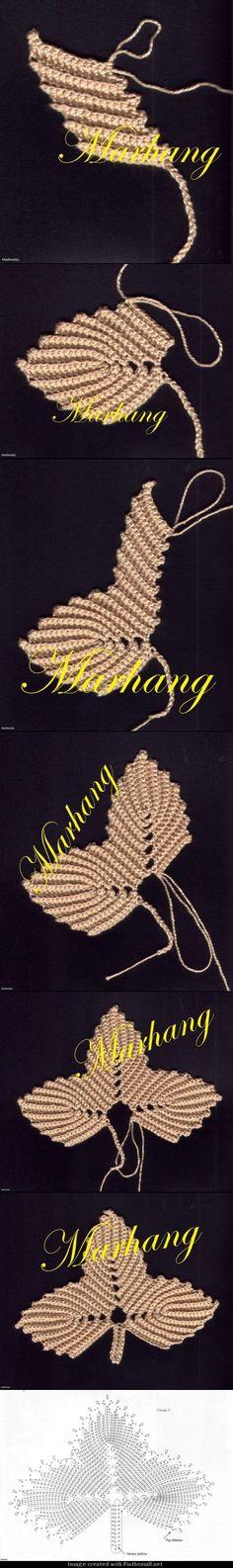 loads of brilliant leaf motifs for irish crochet Irish Crochet Patterns, Crochet Motifs, Freeform Crochet, Crochet Diagram, Crochet Designs, Knitting Patterns, Crochet Leaves, Crochet Flowers, Crochet Vintage
