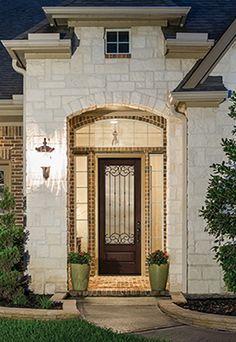 Pulse l nea fiberglass doors from therma tru painted for Therma tru fiber classic mahogany price