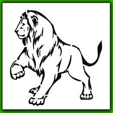 New Lion Airbrush Stencil Template Pattern DIY Paint Home Decor 007175Y@k