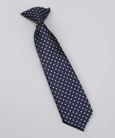 There's a time to play and a time look sharp. Boys inherently have the first one covered, so let this stylish tie handle the latter. The clip-on fastener makes it comfy and easy to put on.