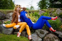 Cute Sonic And Tails Cosplay