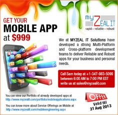 MYZEAL IT Solutions Offers for Independence Day from 15th August to 31st August.