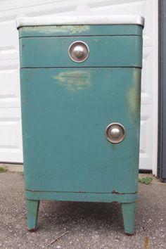 Simmons Vtg 40s Norman Bel Geddes Steel Art Deco Streamline Cabinet Nightstand | eBay