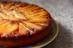 Pear Cardamom Upside Down Cake - It didn't come out pretty, but was still quite tasty.