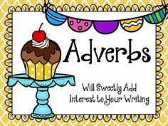 "Adverbs PowerPoint and Activity Pages. Perfect lesson for introducing or reviewing adverbs with your students. Look what purchasers have said, ""This is a terrific pack! I love the PowerPoint. I really think this will help my students understand adverbs!"" $"