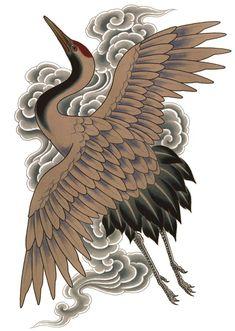 japanese tattoos meaning Japanese Tattoos For Men, Japanese Drawings, Japanese Artwork, Japanese Tattoo Art, Japanese Painting, Japanese Prints, Heron Tattoo, 1 Tattoo, Tattoo Oriental