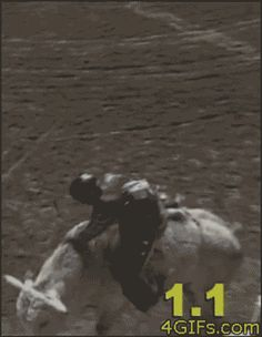 This rodeo clown who's never on the fence about safety: