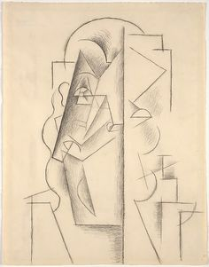 Head of a Man, 1912, Charcoal on paper (62.2 x 48.3 cm)