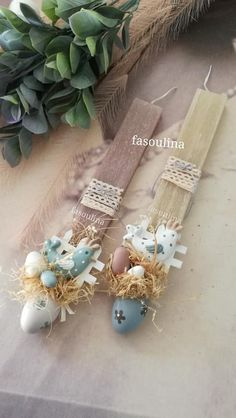 Easter orthodox Candels, Handmade Candles, Easter Ideas, Jewellery, Spring, Crafts, Diy, Presents, Manualidades