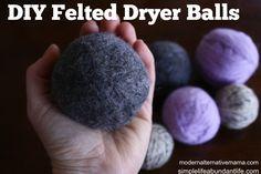DIY Dryer Balls | Modern Alternative Mama