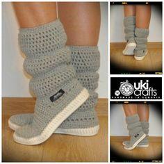 Botas al aire libre Crochet Crochet Botas Zapatos de por ukicrafts