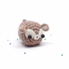 A little deer amigurumi from mohu store.
