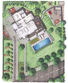 Landscape Architecture Masterplan Drawing Projects 19 Ideas For 2019 Architecture Blueprints, Landscape Architecture Drawing, Landscape Sketch, Landscape Design Plans, Landscape Drawings, Cool Landscapes, Architecture Plan, Landscaping Design, Japan Landscape
