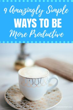 Are you looking to get more things done during the day? Do you want to be more productive…the easy way? As the adage goes, it pays to work smarter, and not harder. Sometimes the simplest of actions can have an enormous impact on our work. Pin now and read later!