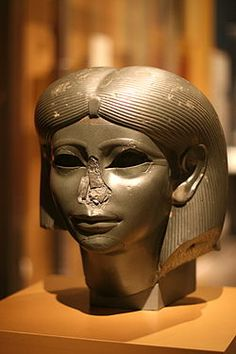 - 2.1.3. D. - Decline into the Second Intermediate Period // The decline began under Amenenhet IV. and continued under his sister and regent, Queen Sobekneferu, who was the first confirmed female ruler of Egypt and the last ruler of the 12th dynasty. * Head from a Female Sphinx  (Brooklyn Museum, NYC)