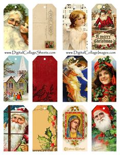 Pallet for Home: Free vintage printables for all your creations this Christmas season