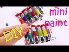 DIY miniature Pencil Pack [working pencils] ~ DIY Doll Pencils - YouTube