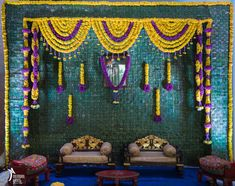 An Exquisite Affair Of A Wedding That Took Place In The City Of Pearls - Hyderabad Indian Wedding Theme, Desi Wedding Decor, Wedding Stage Design, Simple Wedding Decorations, Wedding Mandap, Wedding Reception, Background Decoration, Backdrop Decorations, Backdrops