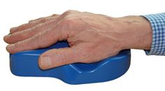 This is an Anti-Tremor Mouse.  It allows for those who can not handle typical computer mouse to have access to a computer.  It is bigger, and much easier to hold on your hand.