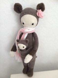 KIRA the kangaroo made by Romy Sch. / crochet pattern by lalylala