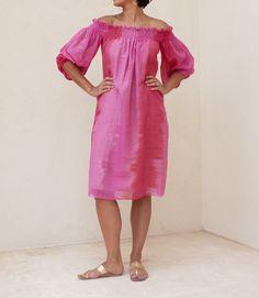Pink Ikat Flow Dress