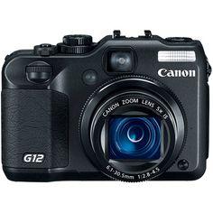 Câmera Digital Power Shot G12 10MP, Filma HD, 5x Zoom - Canon