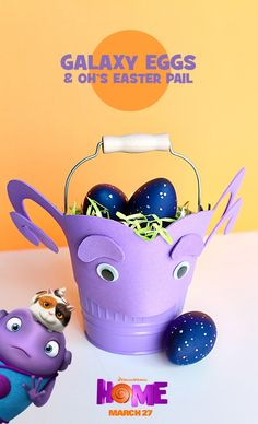 Create these dazzling Home Galaxy Eggs for your Easter egg hunt! Sponsored by DreamWorks.