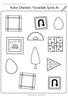 Kare kavramı çalışma sayfası ve kare geometrik şekiller kavramı çalışmaları etkinliği oyunu örnekleri kağıdı indirme, çıktı yazdırma. Free square worksheets download printable. Shapes For Kids, Basic Shapes, Math For Kids, Letter I Crafts, Shining Star, Pre School, Booklet, Worksheets, Kindergarten