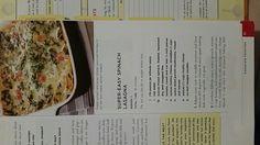 Super easy spinach lasagna