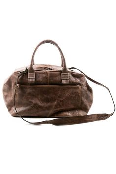 distressed leather bag. Love love love!